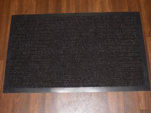NON SLIP DOORMAT 50X80CM RUBBER BACKING GOOD QUALITY ALL COLOURS BROWN BARGAINS